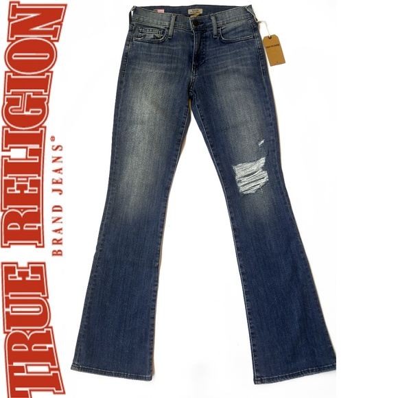 d5b3e3f54 New True Religion Womens Becca Jeans 26x31 Bootcut